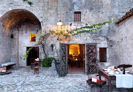 Italy courtyard